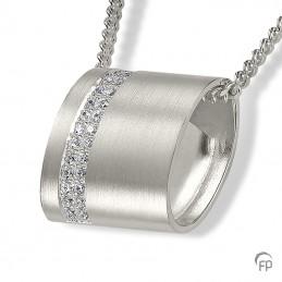 Zilveren Ashanger zirkonia...