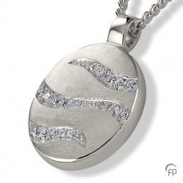 Zilveren Ashanger 'Ovaal'