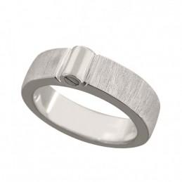 Zilveren Ring met askamer...