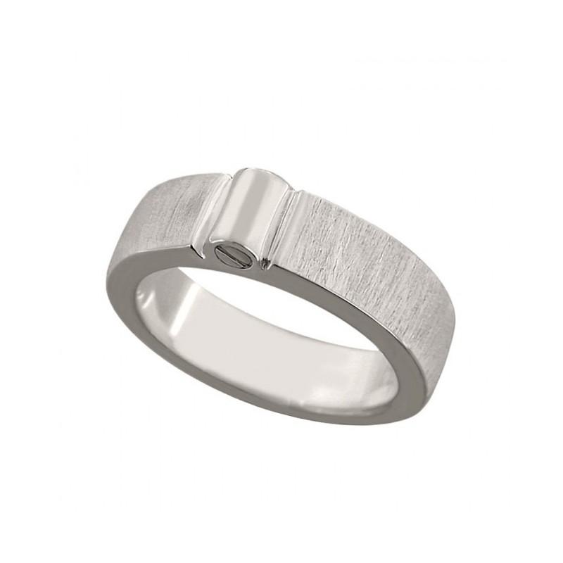 Zilveren Ring Met Askamer Bovenop Mat 6 Mm Breed Maat 15 Mm