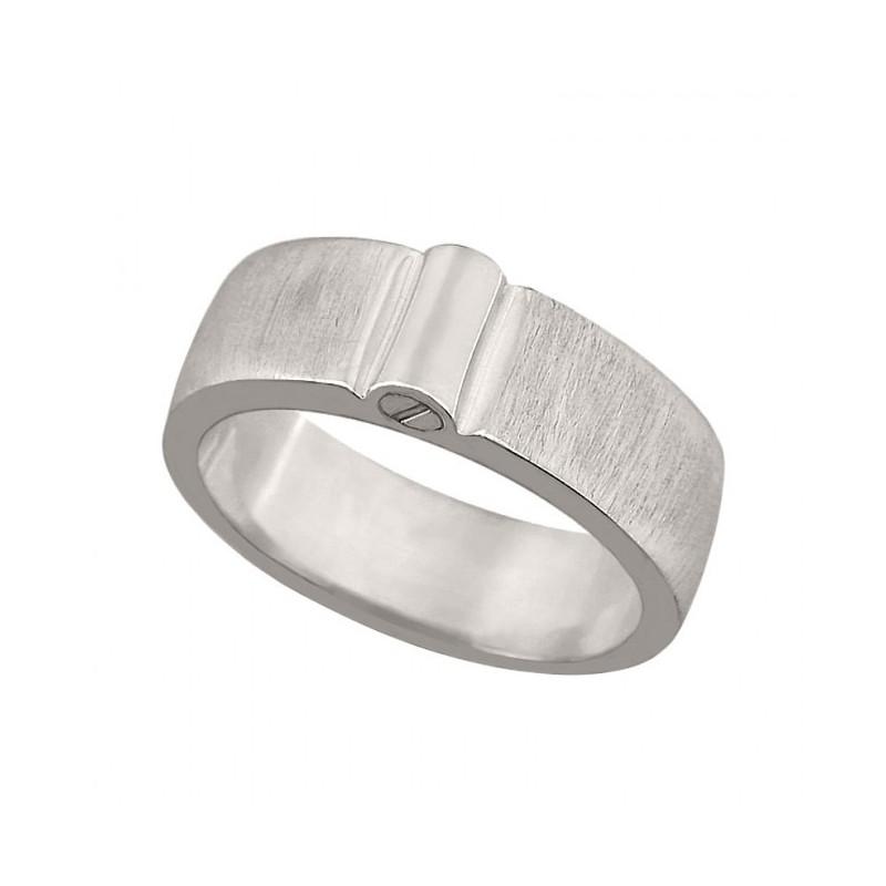 Zilveren Ring Met Askamer Bovenop Mat 8 Mm Breed Maat 15 Mm