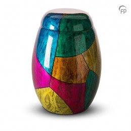 Glasfiber Urn Multicolour