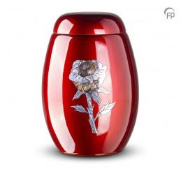 Glasfiber Urn Roos rood