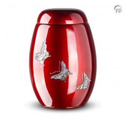 Glasfiber Urn Vlinders rood