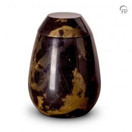 Grote Marmeren Urn zwart bruin