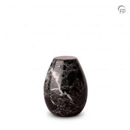 Marmeren Mini Urn zwart met...