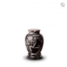 Marmeren Mini Urn zwart wit