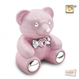 Messing Urn roze 'Cuddle Bear'