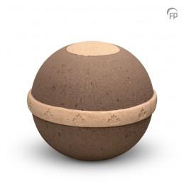 Biologische Urn 'Geos' bruin