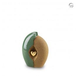 Keramische Mini Urn Groen...
