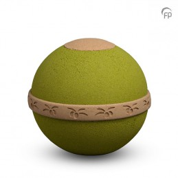 Biologische Urn 'Òlea' groen