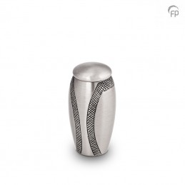 Metalen Mini Urn Zilverkleur