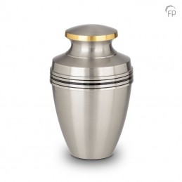 Grote Metalen Urn Zilver...