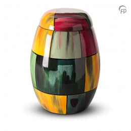 Glasfiber Urn Multicolour geel