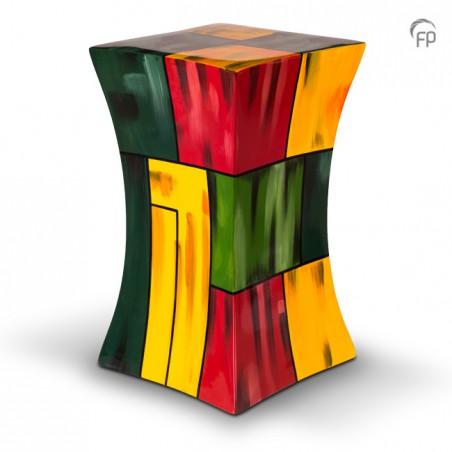 Grote Glasfiber Urn Diabolo multicolour 2