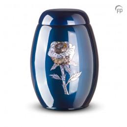 Glasfiber Urn Roos blauw