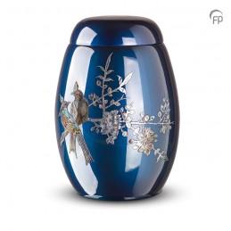 Glasfiber Urn Vogels blauw