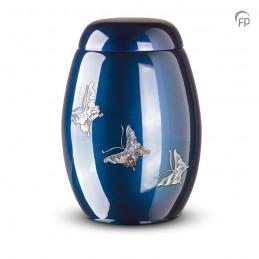 Glasfiber Urn Vlinders blauw