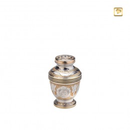 Messing Mini Urn zilver met...